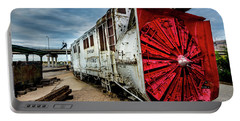 Rotary Snow Plow Vintage Train - Utah Portable Battery Charger by Gary Whitton