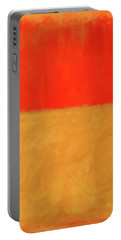 Rothko's Orange And Tan Portable Battery Charger