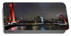 Rotterdam - Willemsbrug At Night Portable Battery Charger