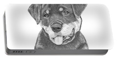 Rottweiler Puppy- Chloe Portable Battery Charger