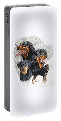 Rottweiler W/ghost  Portable Battery Charger