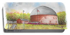 Round Barn In Route 66, Arcadia, Oklahoma Portable Battery Charger