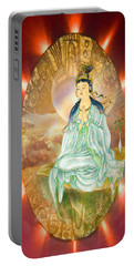 Round Halo Kuan Yin Portable Battery Charger by Lanjee Chee