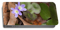 Round-lobed Hepatica Portable Battery Charger