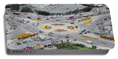 Portable Battery Charger featuring the photograph Roundabout In Warsaw by Chevy Fleet