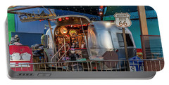 Route 66 And Airstream On Tha Pier Portable Battery Charger