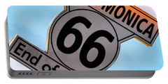 Route 66 End Of The Trail Portable Battery Charger