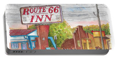 Route 66 Inn In Amarillo, Texas Portable Battery Charger by Carlos G Groppa