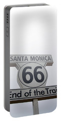 Route 66 Santa Monica- By Linda Woods Portable Battery Charger