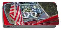 Portable Battery Charger featuring the photograph Route 66 The American Highway by David Lee Thompson