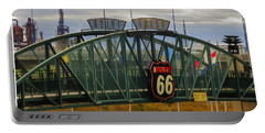 Route 66 Tulsa Sign - Hdr Portable Battery Charger by Tony Grider