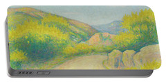Route De Campagne Portable Battery Charger by Achille Lauge
