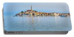 Rovinj In The Early Morning Fog, Istria, Croatia Portable Battery Charger