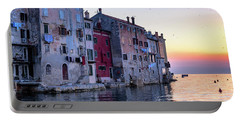 Rovinj Old Town On The Adriatic At Sunset Portable Battery Charger