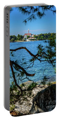 Rovinj Seaside Through The Adriatic Trees, Istria, Croatia Portable Battery Charger
