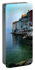Rovinj Venetian Buildings And Adriatic Sea, Istria, Croatia Portable Battery Charger