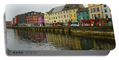 Row Homes On The River Lee, Cork, Ireland Portable Battery Charger