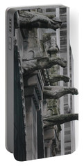 Portable Battery Charger featuring the photograph Row Of Gargoyles by Christopher Kirby