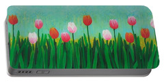 Row Of Tulips Portable Battery Charger