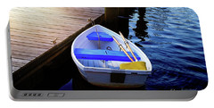 Rowboat At Sunset Portable Battery Charger
