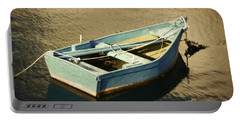 Rowboat At Twilight Portable Battery Charger by Mary Machare