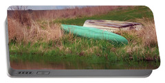 Portable Battery Charger featuring the photograph Rowboat - Canoe by Nikolyn McDonald