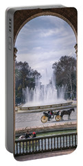 Rowboat, Fountain, Horse And Carriage Portable Battery Charger