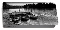 Portable Battery Charger featuring the photograph Rowboats At The Dock 2 by David Patterson