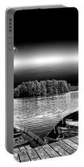 Portable Battery Charger featuring the photograph Rowboats At The Dock 3 by David Patterson