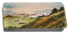 Royal Birkdale Golf Course 18th Hole Portable Battery Charger by Bill Holkham