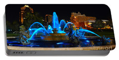 Royal Blue J. C. Nichols Fountain  Portable Battery Charger by Catherine Sherman