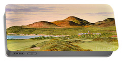 Royal County Down Golf Course Portable Battery Charger by Bill Holkham
