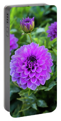 Royal Dahlia Delight Portable Battery Charger
