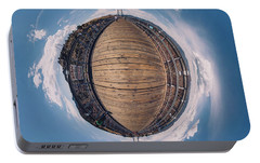 Portable Battery Charger featuring the photograph Royal Gorge Bridge Tiny Planet by Chris Bordeleau