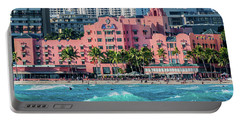 Royal Hawaiian Hotel Surfs Up Portable Battery Charger