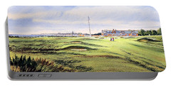 Royal Troon Golf Course Portable Battery Charger by Bill Holkham