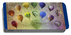 Portable Battery Charger featuring the digital art Roygbiv Balloons by Melinda Ledsome