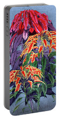 Portable Battery Charger featuring the painting Roys Collection 6 by John Jr Gholson