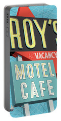 Roy's Motel Cafe Pop Art Portable Battery Charger
