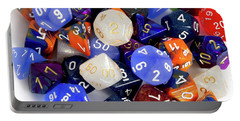 Rpg Dice Portable Battery Charger by Liz Masoner