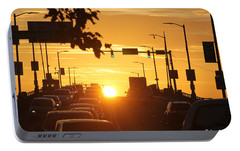 Portable Battery Charger featuring the photograph Rte 50 Bridge At Sunset by Robert Banach