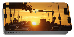 Rte 50 Bridge At Sunset Portable Battery Charger by Robert Banach