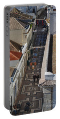 Rua Do Crime In Faro Portable Battery Charger by Angelo DeVal
