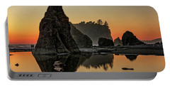 Ruby Beach At Sunset Portable Battery Charger