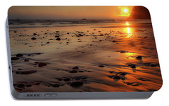 Portable Battery Charger featuring the photograph Ruby Beach Sunset by David Chandler