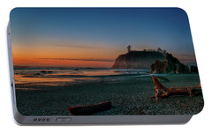 Portable Battery Charger featuring the photograph Ruby Beach Sunset by Mary Jo Allen