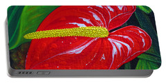 Ruby Holiday Portable Battery Charger by Debbie Chamberlin