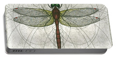 Ruby Meadowhawk Dragonfly Portable Battery Charger