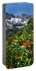 Ruby Mountain Wildflowers - Vertical Portable Battery Charger by Alan Socolik