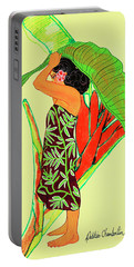 Ruby Palmtree Portable Battery Charger